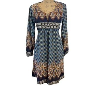 Reborn Boho Chic Womens Long Sleeve Modest Dress